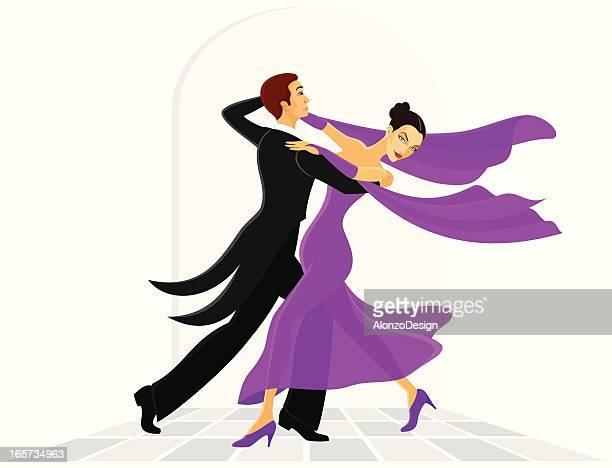 illustrations, cliparts, dessins animés et icônes de danseurs de la salle de bal - danse de salon
