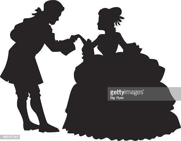ballroom dancers - ballroom stock illustrations