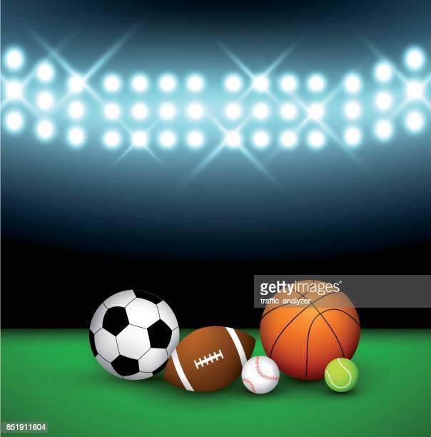 Balls on a field