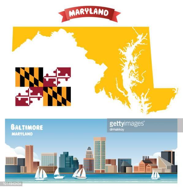 baltimore - chesapeake bay stock illustrations, clip art, cartoons, & icons
