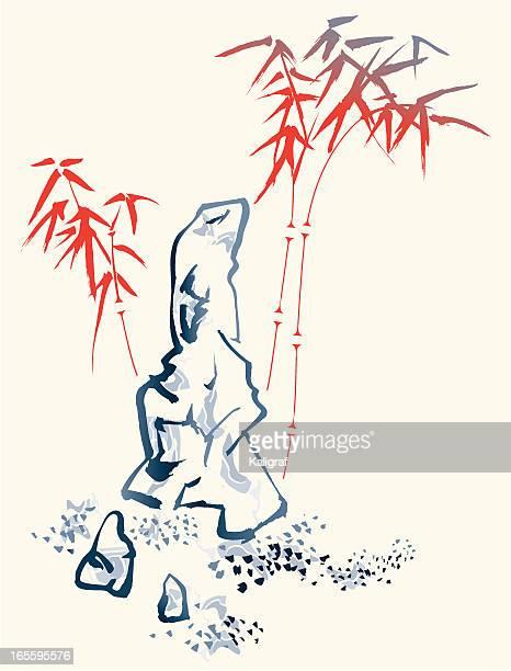 竹とストーン - 書道点のイラスト素材/クリップアート素材/マンガ素材/アイコン素材