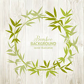 Bamboo decorative frame