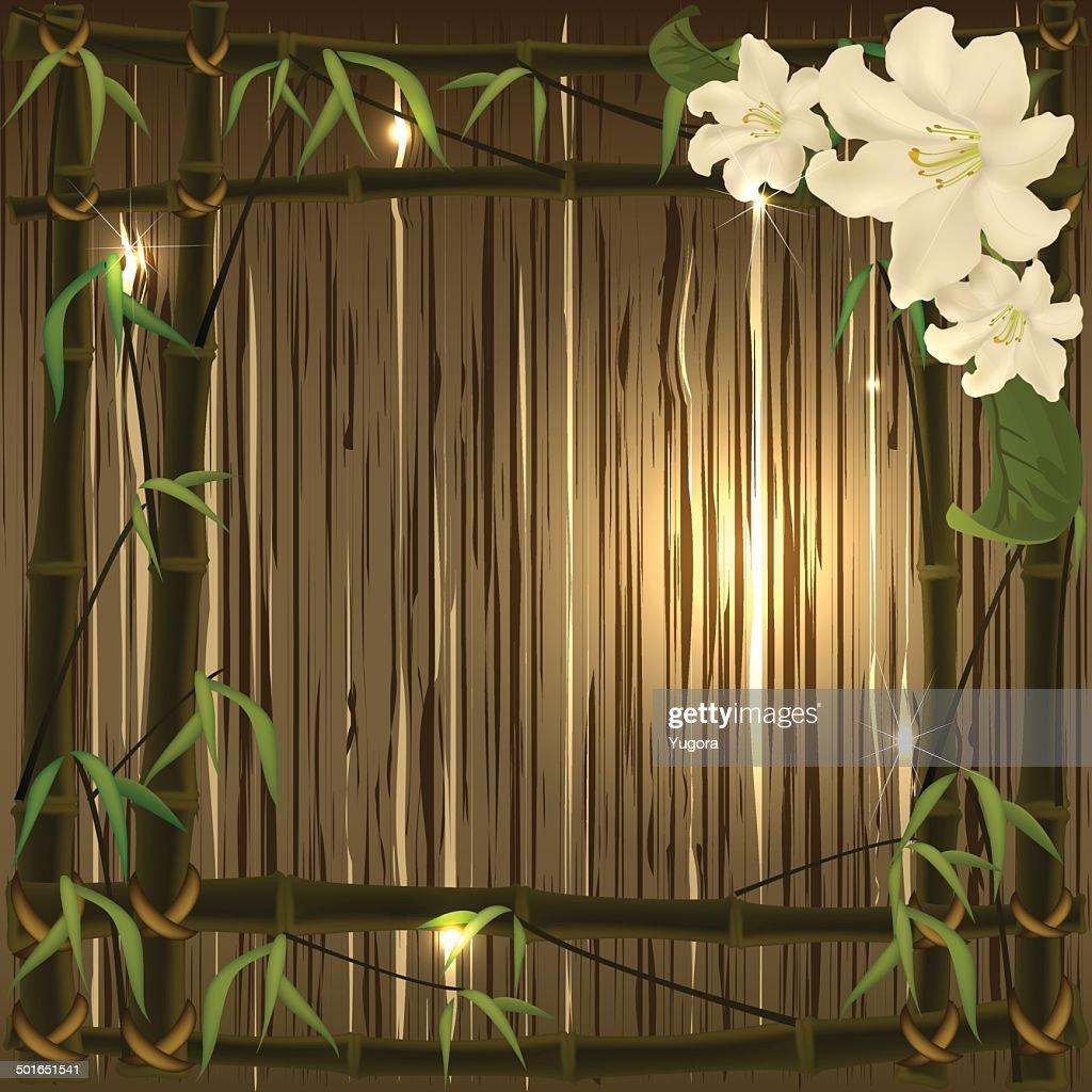 Bambusrahmen Vektorgrafik   Getty Images
