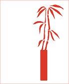 Bamboo in Modern Vase ( Vector )