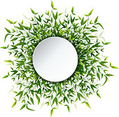 Bamboo leaves frame