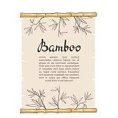 Bamboo roll. Vector illustration.