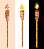 Bamboo Tiki Torch Set