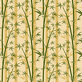 Bamboo tree vector seamless background