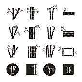 Bamboo vector,icon set