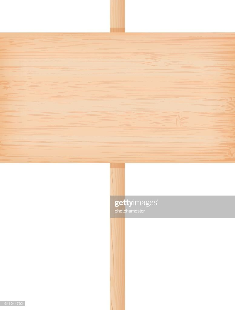 Bamboo wooden signboard on a pole