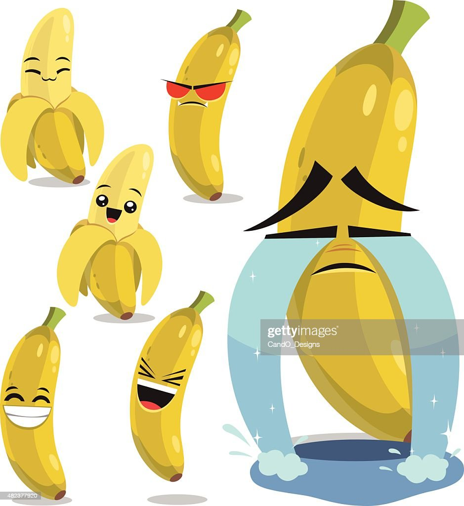 Banana Cartoon Set B