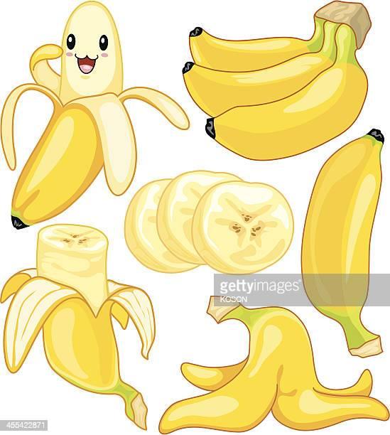 banana cartoon - banana stock illustrations, clip art, cartoons, & icons