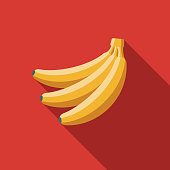 Banana Flat Design Breakfast Icon