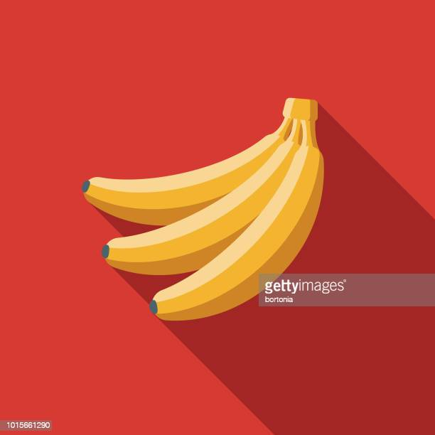 banana flat design breakfast icon - banana stock illustrations, clip art, cartoons, & icons