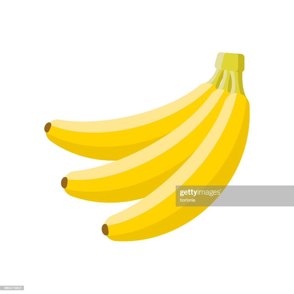 Banana Flat Design Fruit Icon