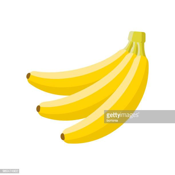 banana flat design fruit icon - banana stock illustrations, clip art, cartoons, & icons