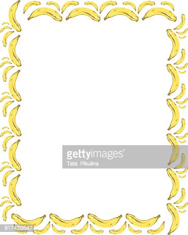 Banana Frame Vector Art | Getty Images