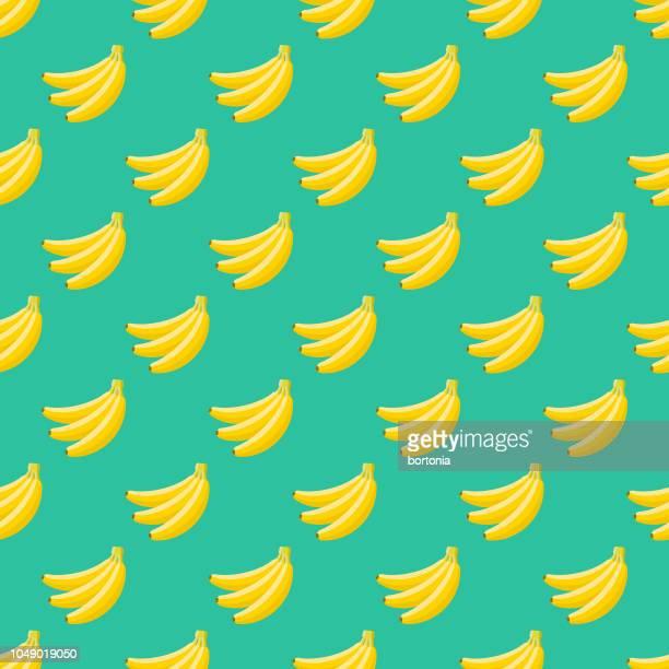 banana fruit seamless pattern - banana stock illustrations, clip art, cartoons, & icons