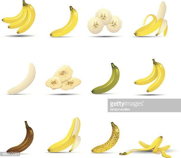 バナナのアイコン - バナナ点のイラスト素材/クリップアート素材/マンガ素材/アイコン素材