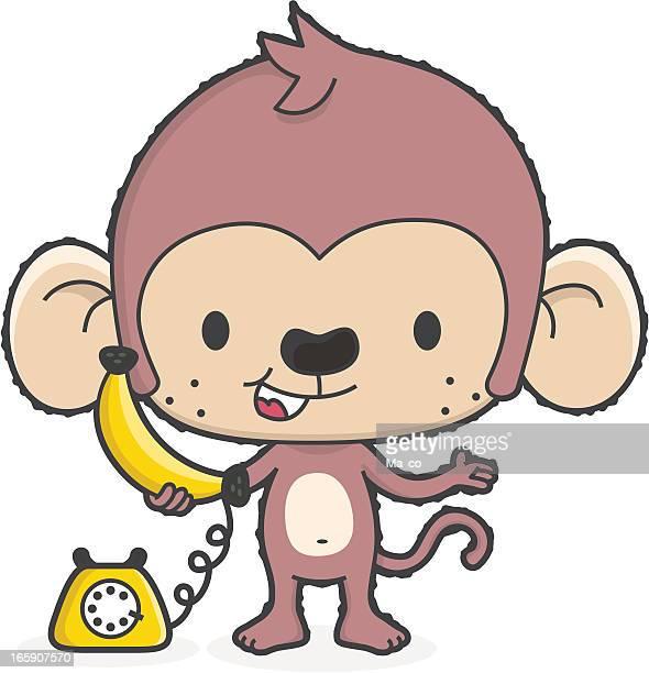 Banana Phone Monkey /Telephone Communication