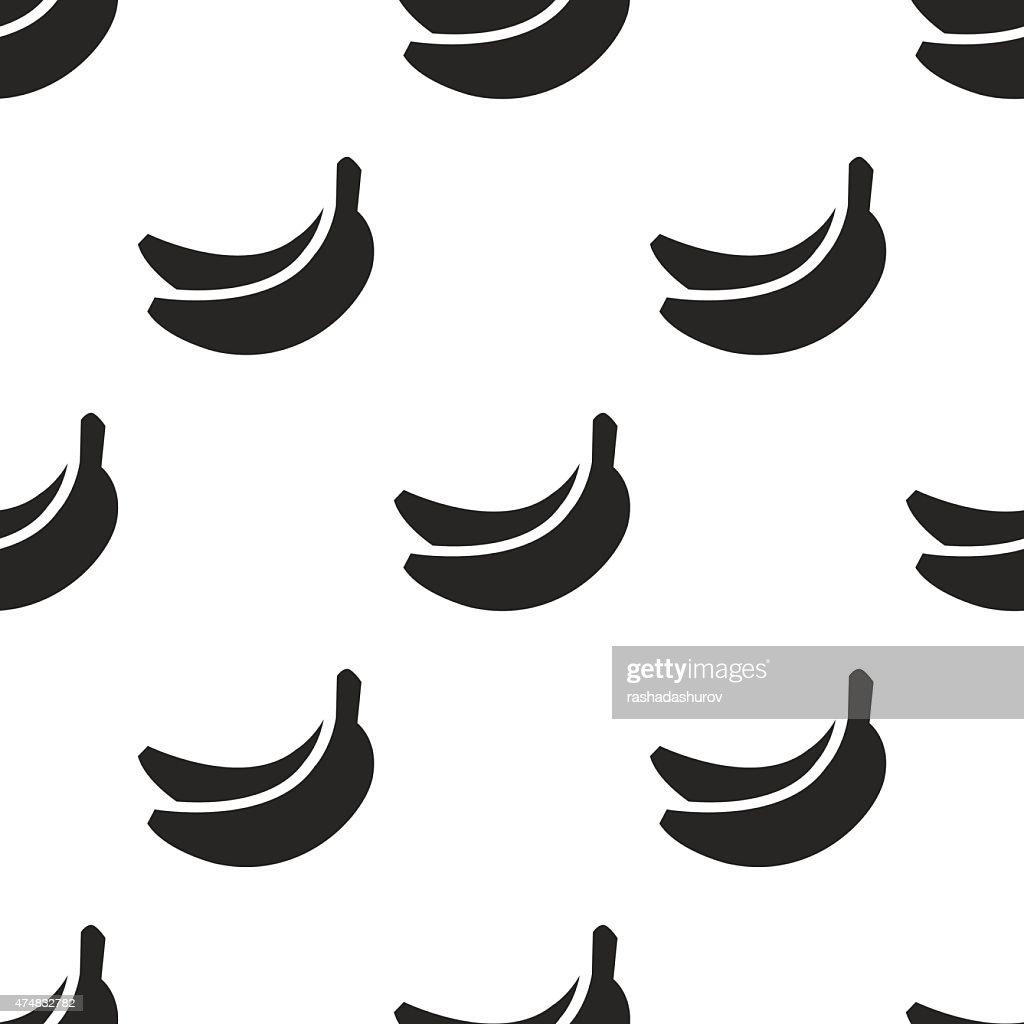 banana, vector seamless pattern