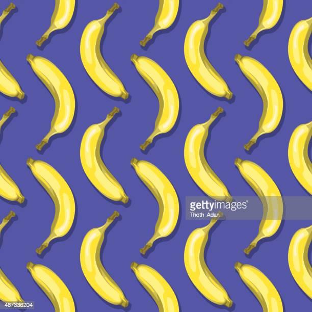 bananas (seamless pattern pop art style) - banana stock illustrations, clip art, cartoons, & icons