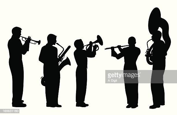 Band Musicians Vector Silhouette