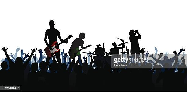 Band (61 Complete People, Clipping Path Hides the Legs)