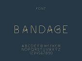 Bandage font. Vector alphabet