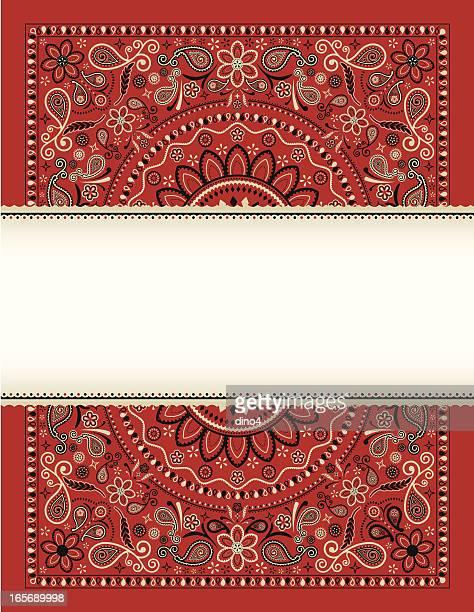 bandana banner - bandana stock illustrations