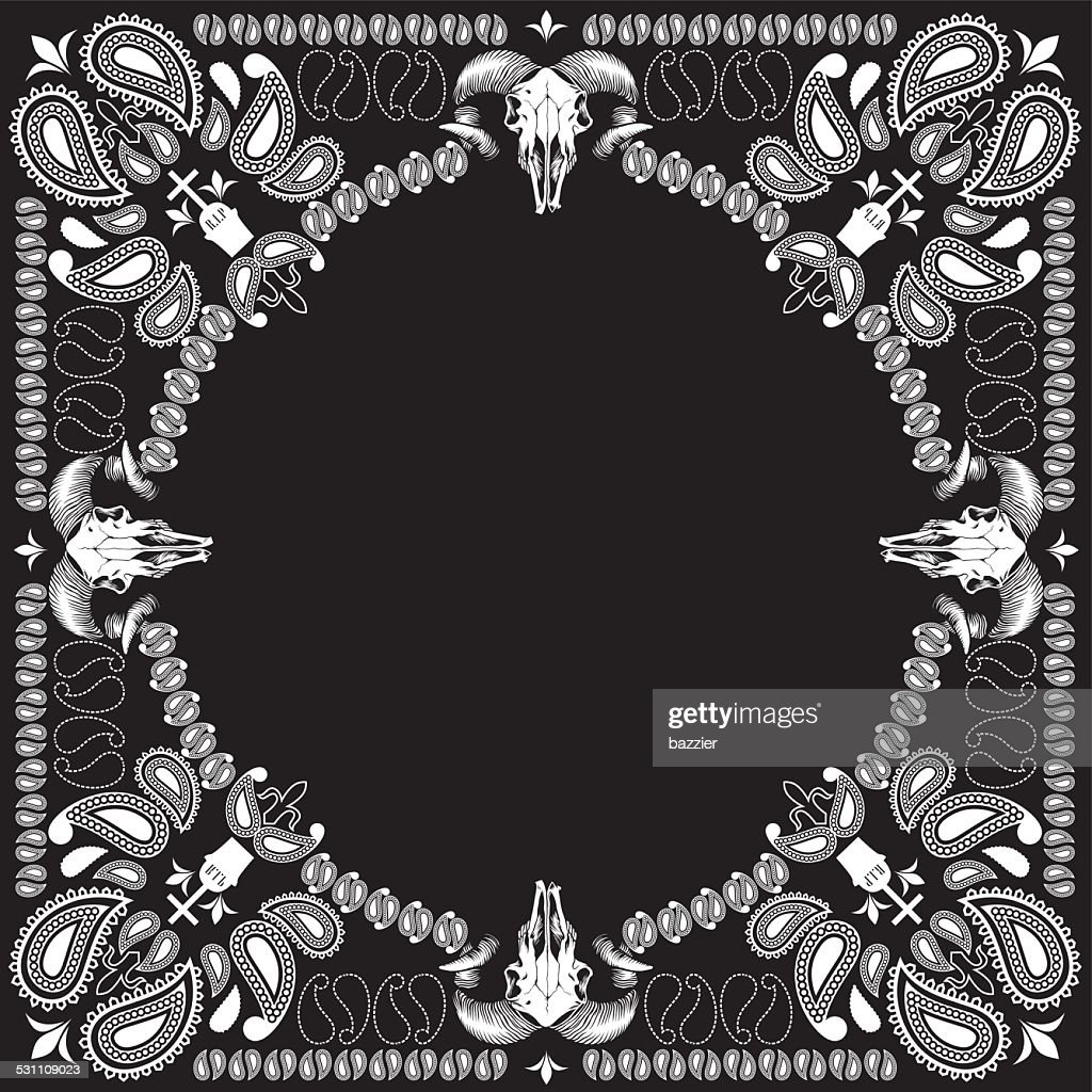 bandana pattern with goat skull