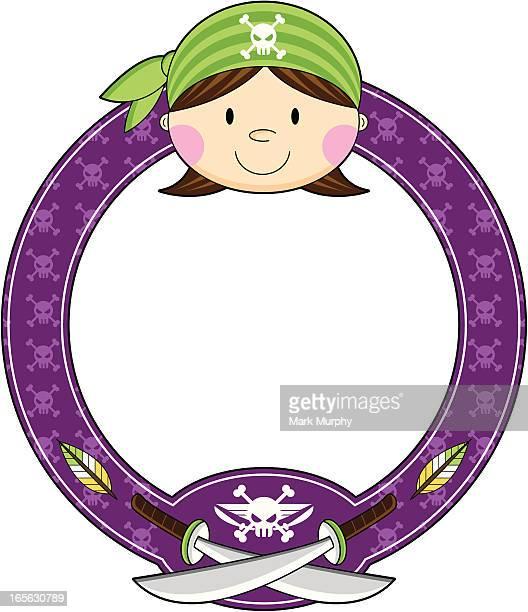 Bandana Pirate Girl Frame