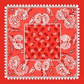 Bandana red paisley vector design