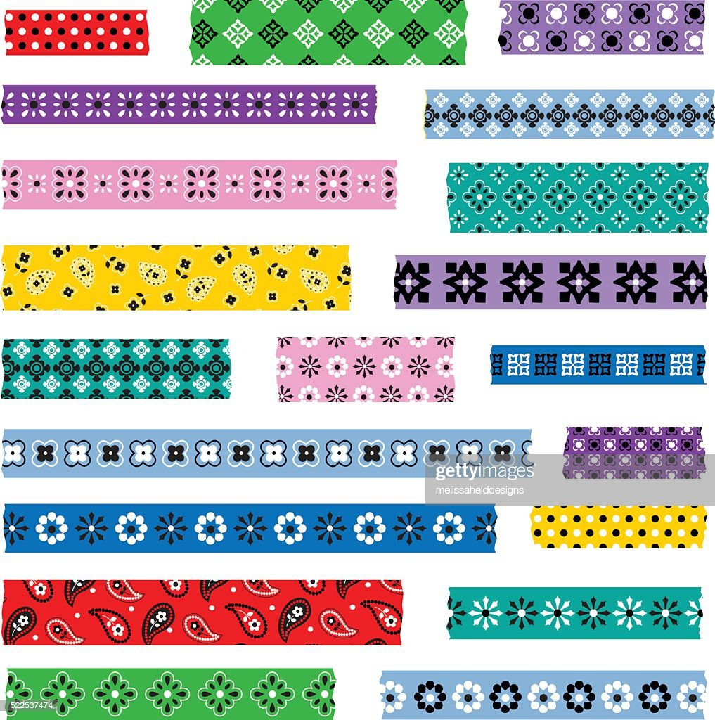bandana washi patterns