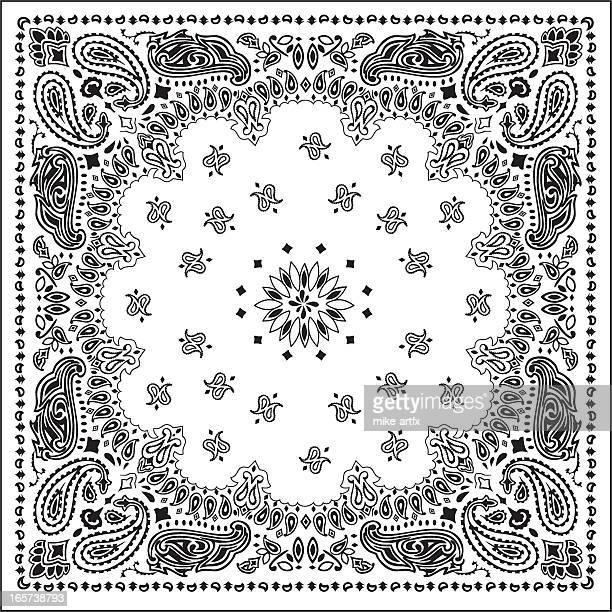 bandanawhite - bandana stock illustrations