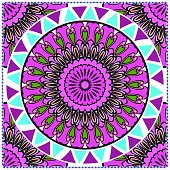 bandanna print with floral pattern. vector illustration. For fabric, textile, bandana, scarg, print