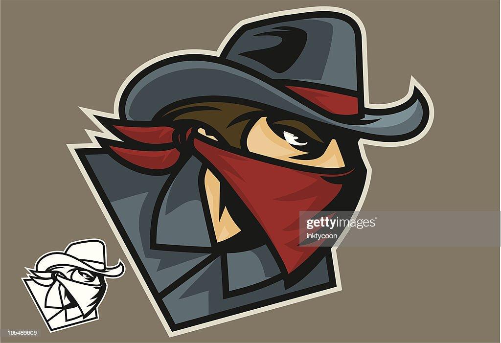 Bandit Cowboy : stock illustration