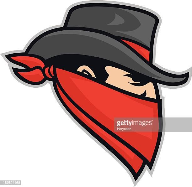 bandit mascot clipart - bandana stock illustrations
