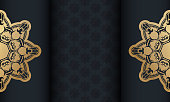 baner black with luxurious gold pattern