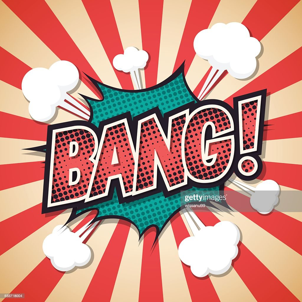 bang, Comic explosion speech bubble. bang text. Vector illustrat