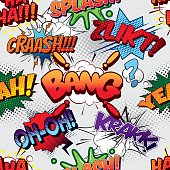 Bang Seamless comics background