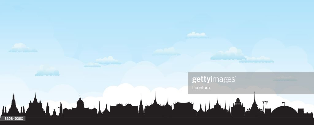 Bangkok Skyline (All Buildings are Separate and Complete) : Ilustração de stock