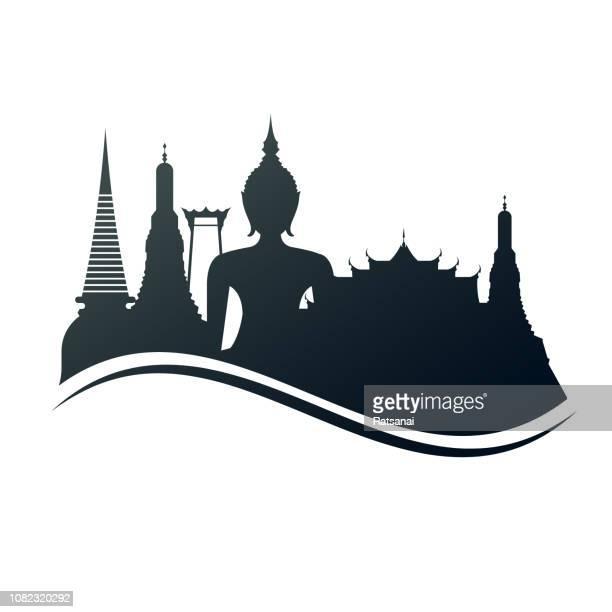 bangkok thailand - thailand stock-grafiken, -clipart, -cartoons und -symbole