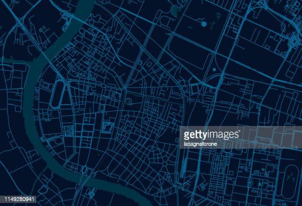 bangkok thailand vector map - bangkok stock illustrations
