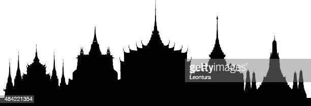 Bangkok (bâtiments sont détaillées, et amovible