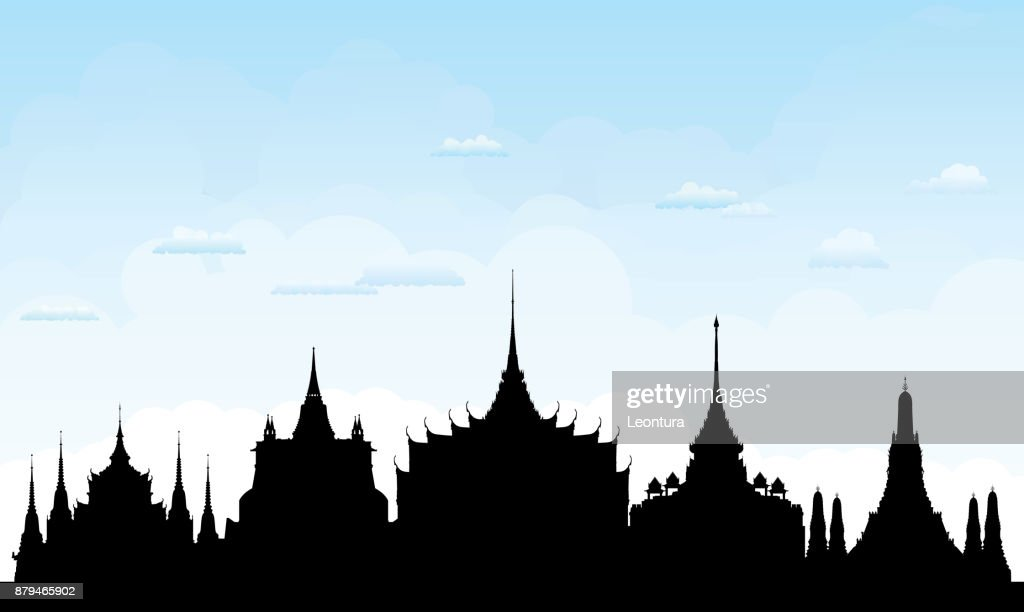 Bangkok (All Buildings Are Complete and Moveable) : stock illustration