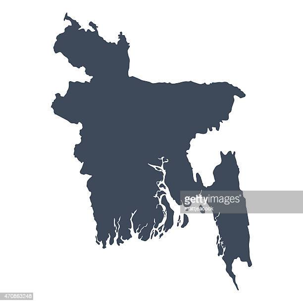 bangladesh country map - bangladesh stock illustrations