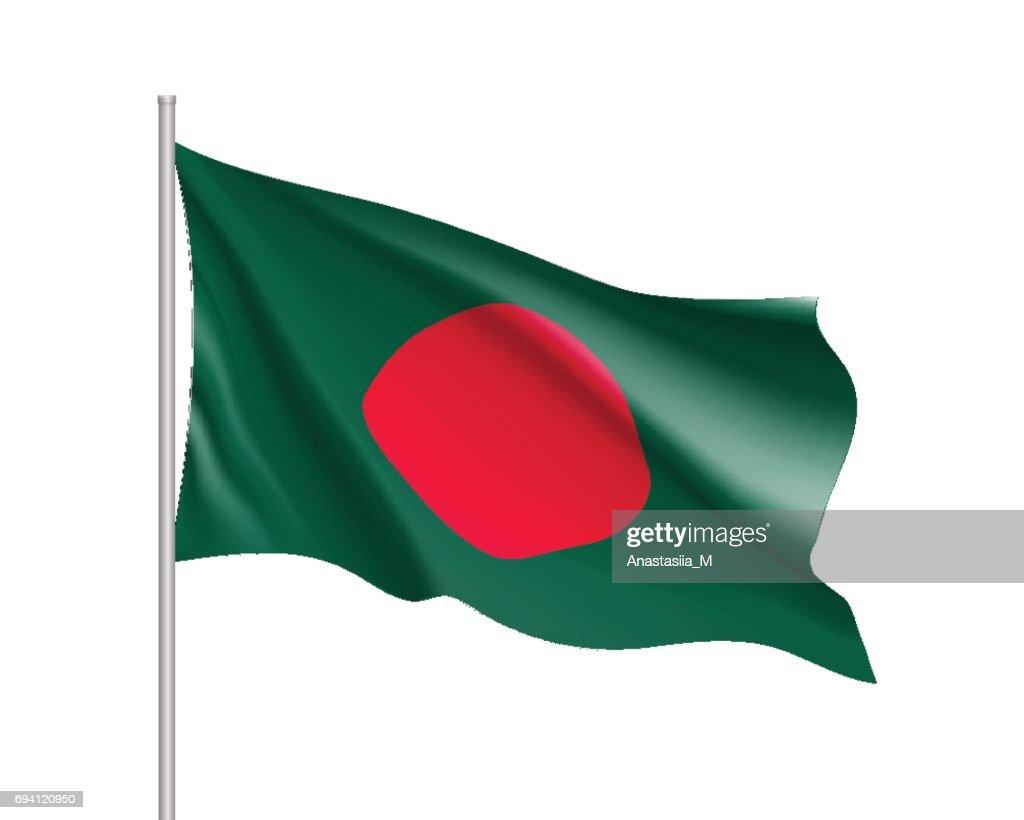 Bangladesh flag, vector flat style