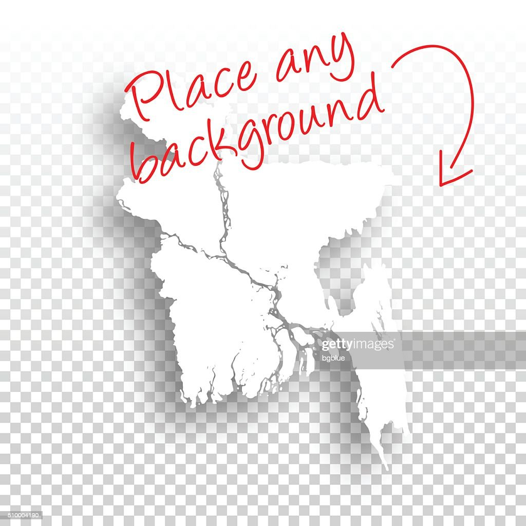 Bangladesh Map for design - Blank Background