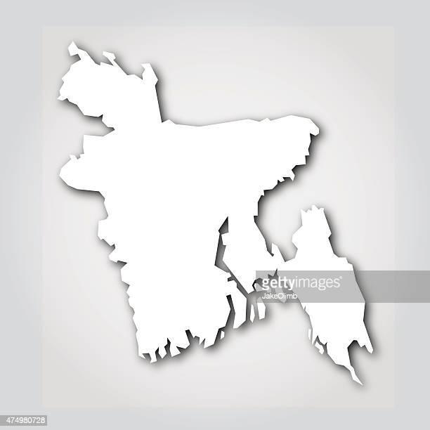 bangladesh silhouette white - bangladesh stock illustrations